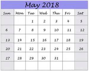 Calendar 2018 March April May May 2018 Printable Wall Calendar Images