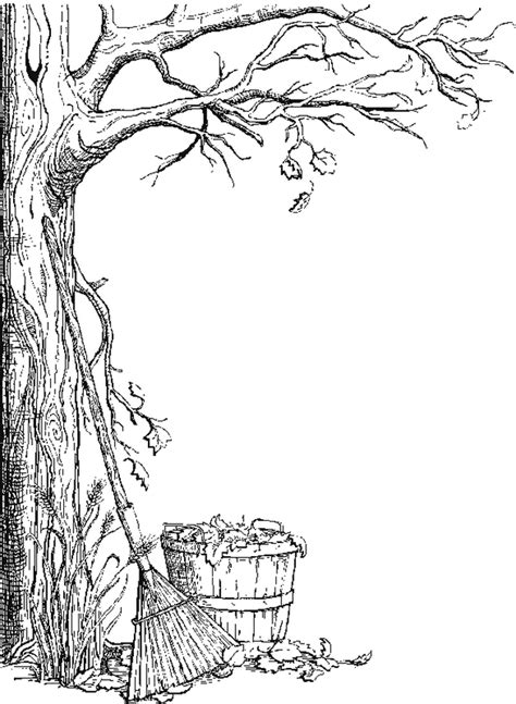 free coloring pages of autumn borders