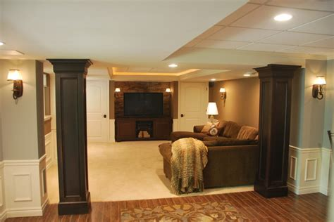 Low Ceiling Finished Basement by Oconnor Basement