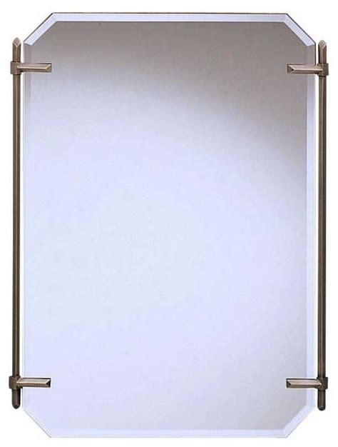 kichler bathroom mirrors kichler polygon antique pewter mirror transitional