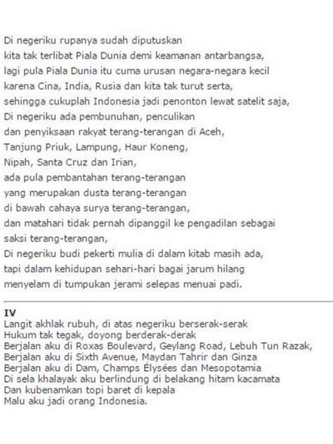 Malu Aku Jadi Orang Indonesia Taufik Ismail puisi tema perjuangan wajib dibaca di hari kebangkitan nasional viral bintang