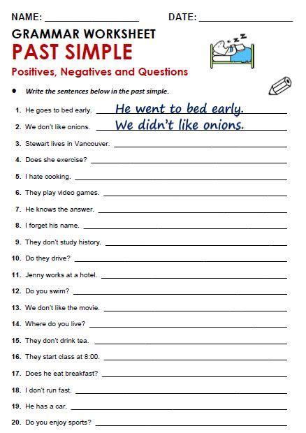 Worksheet Grammar Pdf by Best 25 Grammar Worksheets Ideas On
