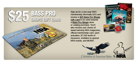 Where To Get Bass Pro Shop Gift Cards - join the nra for 25 and get a 25 bass pro shops gift card general discussion