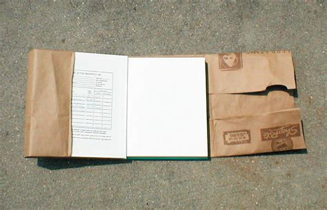 A Paper Book Cover - how to make a book cover with a paper bag