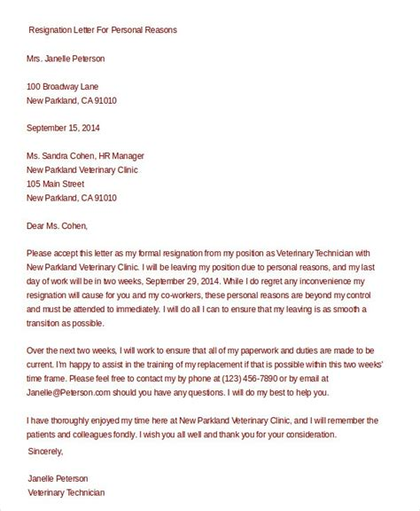 formal resignation letters formal resignation letter gplusnick