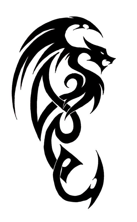 easy dragon tattoo designs 18 best simple drawing of images on