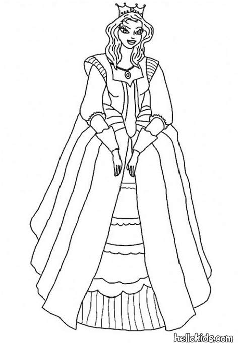 Medieval Princess Coloring Pages  Hellokidscom sketch template