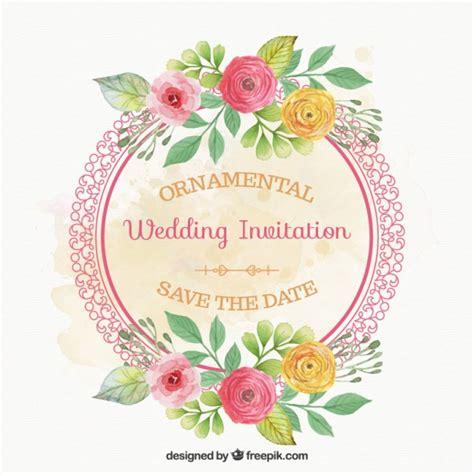 fiori di con telaio telaio arrotondato con carta di fiori di nozze scaricare