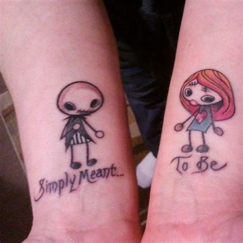 jack and sally couple tattoos top 30 and sally designs entertainmentmesh