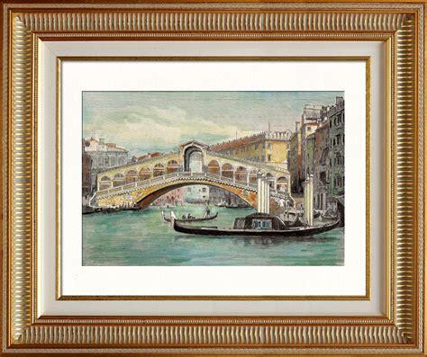 Miroir Fenetre 1877 by Gravures Anciennes Vue De Venise Gondole Pont Du