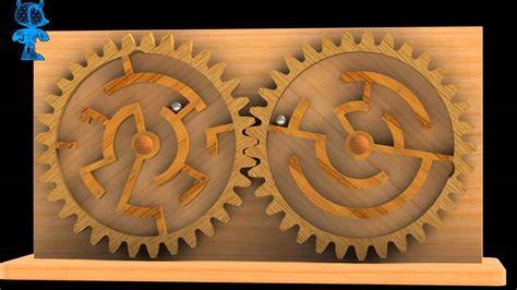 gears double maze wooden toy  model youtube