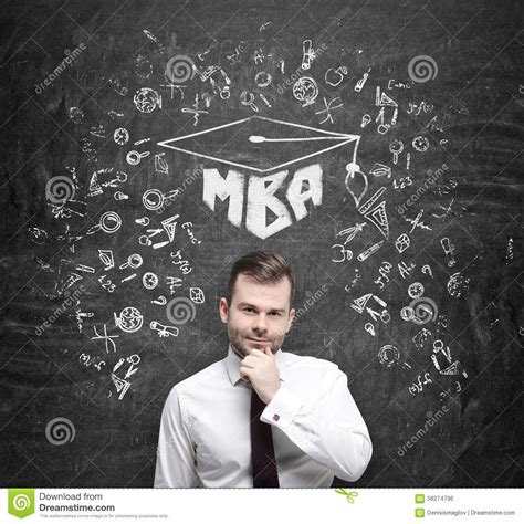 Mba Style Of Thinking by Handsome Professional Is Thinking About Mba Degree