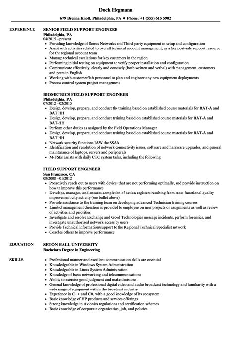 Siemens Field Service Engineer Cover Letter by Siemens Field Service Engineer Sle Resume View Sle Resume