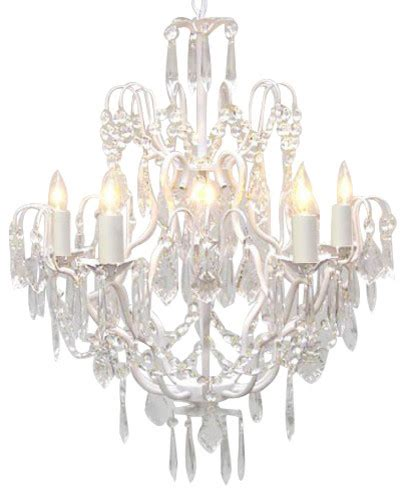 Chandelier White White Wrought Iron Chandelier Traditional Chandeliers By Gallery