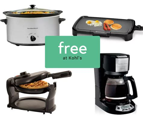 free kitchen appliances free kitchen appliances after rebate at kohls southern savers