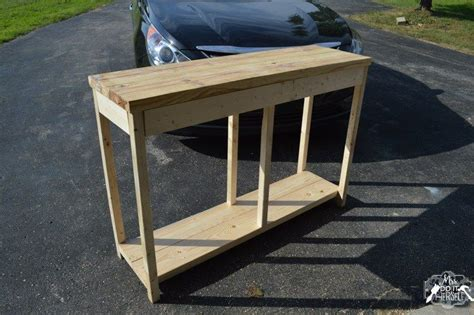 diy build   entry table woodworking projects
