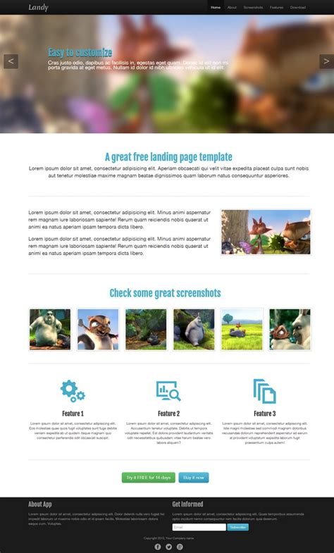 html templates for landing pages 27 best responsive html landing page templates free premium