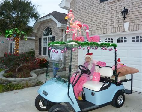 Golf Carts Decorated For by Golf Cart Parade Flamingos For