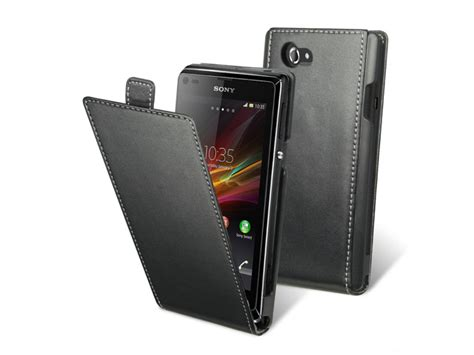 Casing Hp Xperia L muvit slim leather sony xperia l