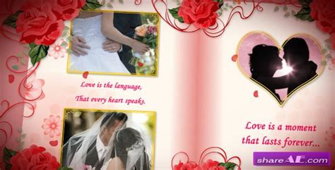Wedding Album Videohive by Wedding Album Roses After Effects Project Videohive