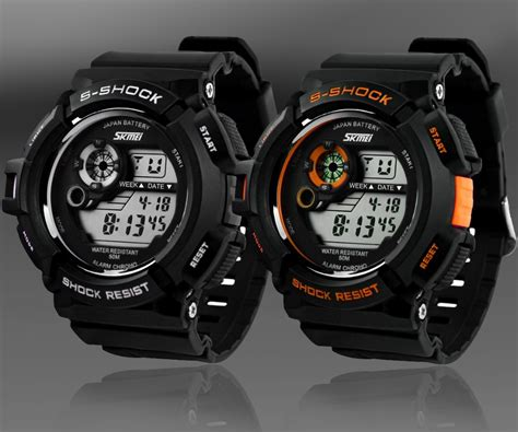 S Shock Sport 2168 g style s shock mens sports led display shock resistant date calendar multi