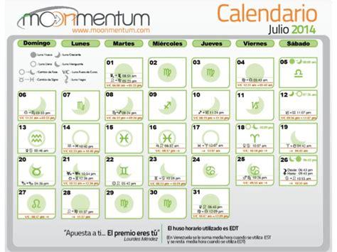 Calendario Astrologico Calendario Astrologico Julio 2014