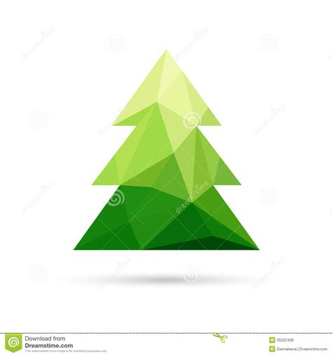 triangle tree abstract tree made of triangles stock vector
