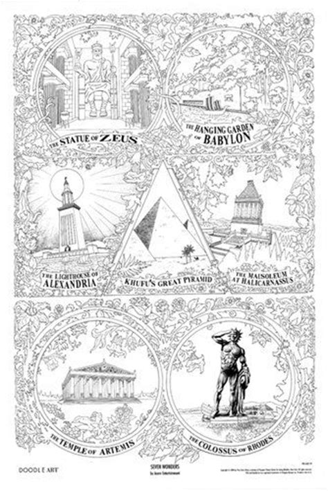 coloring pages seven wonders of the ancient world wonders of the world free colouring pages
