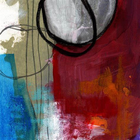 between days red house painters time between abstract art painting by linda woods