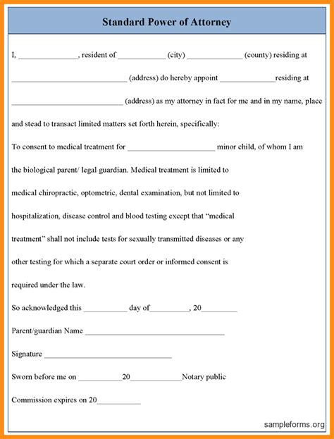 6 florida general durable power of attorney form pdf