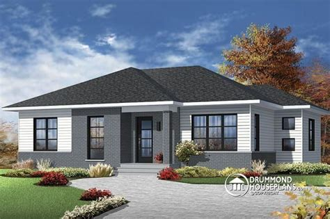 modern bungalow floor plans w3138 economical contemporary modern house plan with open floor plan layout large kitchen
