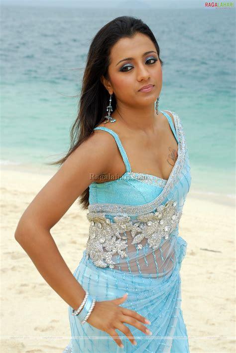 actress bikini saree indian actress trisha krishnan bikini blouse transparent