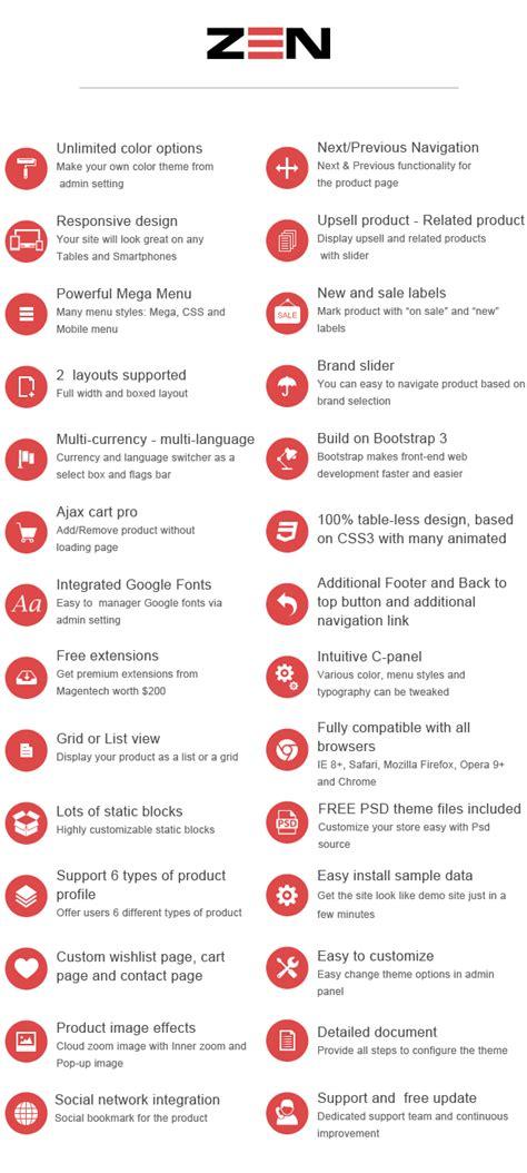 themeforest zen sm zen responsive multi store magento theme by magentech