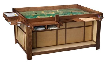 tabletop gaming table the spartan by chic http geekchichq furniture spartan stuff i want