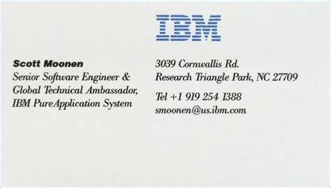 ibm business card template ibm business card template