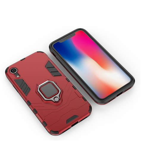 pc tpu shockproof protective with magnetic ring holder for iphone xr alexnld