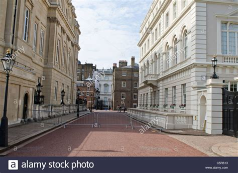 houses to buy lancaster drive between clarence house and lancaster house the mall westminster stock photo