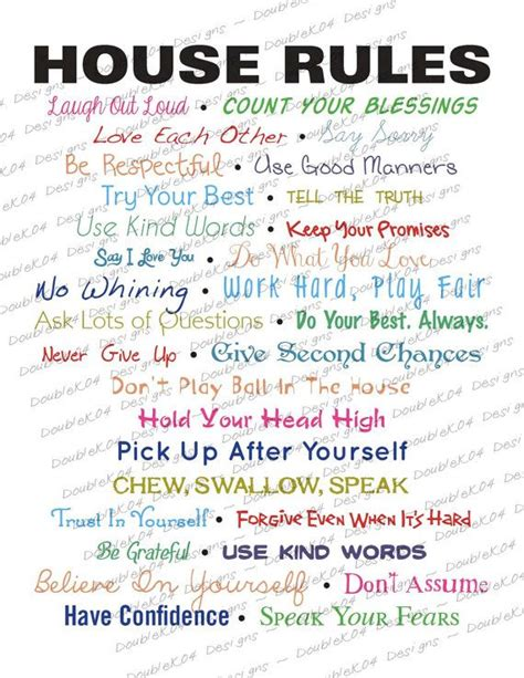 house rules 17 best ideas about house rules chart on pinterest house