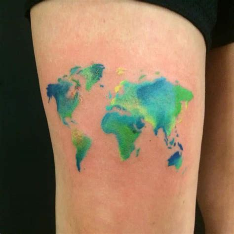 watercolor tattoos map watercolor tattoos that beautifully transform skin into a