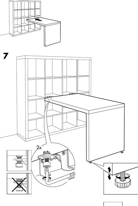 bureau ikea expedit handleiding ikea expedit bureau pagina 8 8 dansk