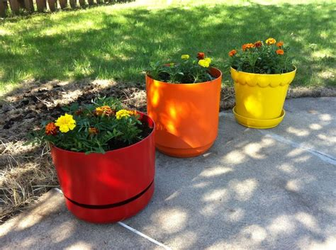 Spray Paint Plastic Planters by 1000 Images About Spray Piant Spray Painted Items On