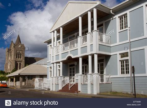 the house st kitts courthouse and catholic church basseterre st