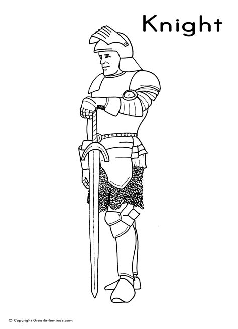 knight sword coloring page free medieval knights coloring pages