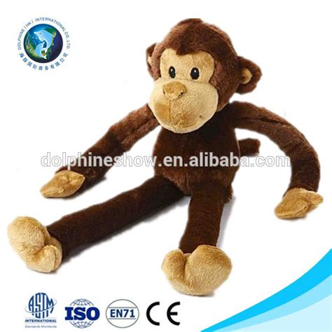 2015 soft material plush monkey names cute brown stuffed