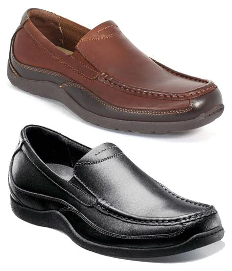 wide loafers florsheim 039 s leather loafers in black and brown med