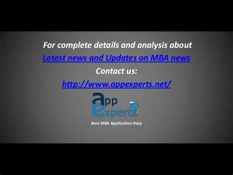 2nd Tier Mba Programs by Top 10 News And Updates On Mba