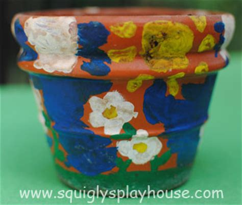 craft painted flowerpots