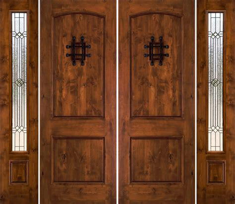 Rustic Front Doors Rustic Doors With Sidelights Rustic Exterior Doors
