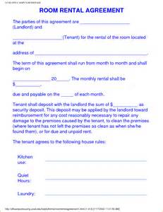 tenancy agreement template for renting a room 6 sle room rental agreement teknoswitch