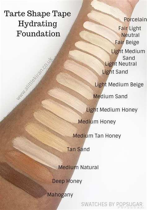 tarte foundation colors tarte foundation color swatch look tarte shape
